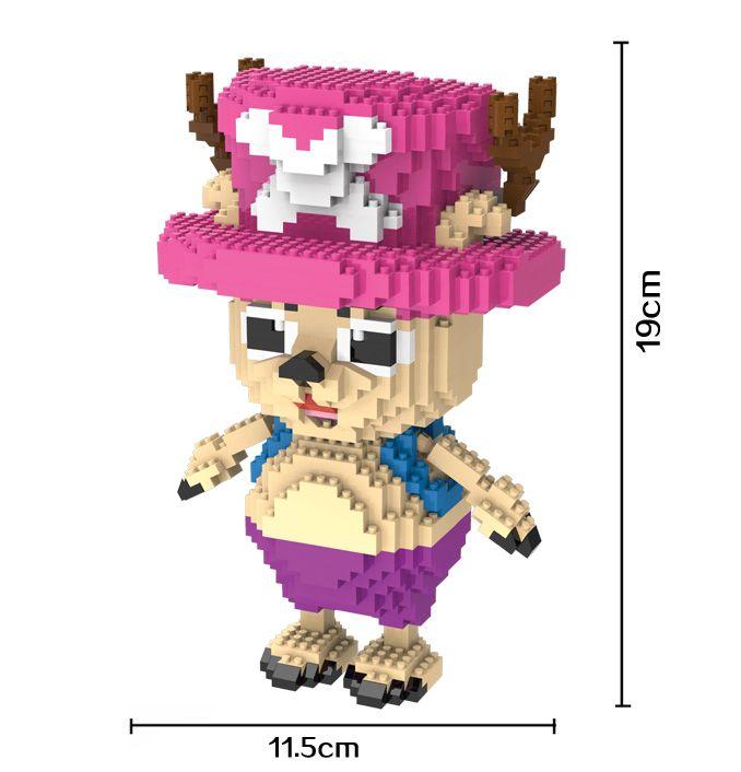 HC Magic Blocks One Piece Mini Blocks Chopper Micro blocks Cartoon DIY Building Toys Juguetes Auction Model TOY Kids Gifts 9017