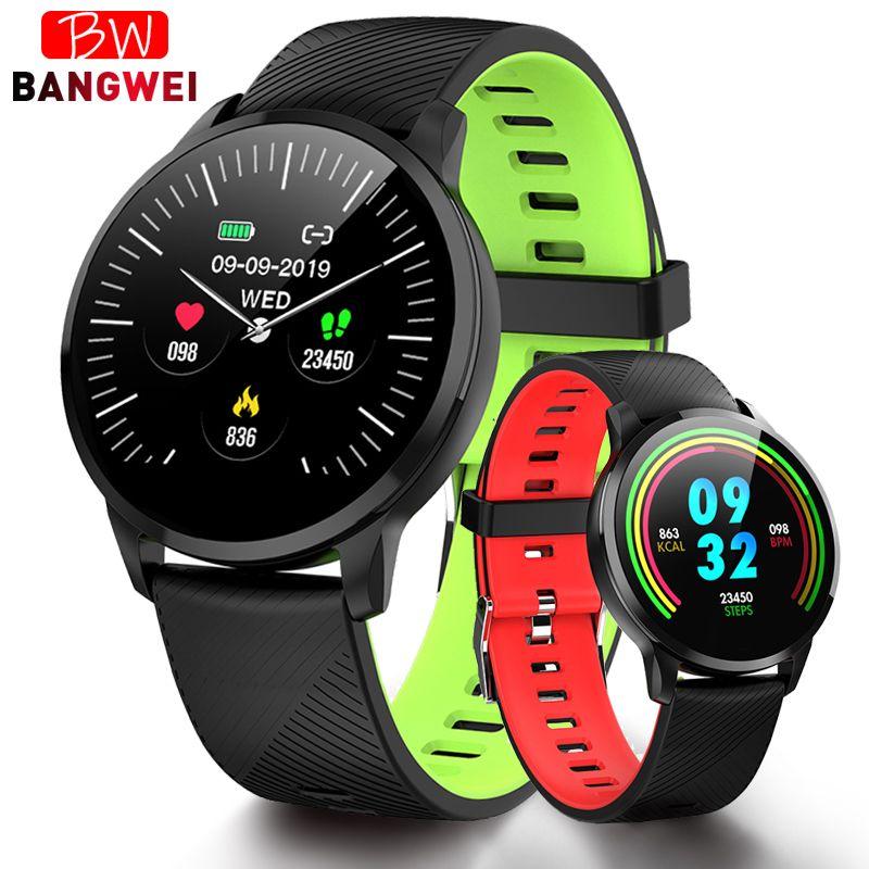 BANGWEI 2019 Smart Uhr Männer Smart Armbanduhr Blutdruck Herz Rate Monitor Fitness Tracker Wasserdicht Pedometer Sport Uhr