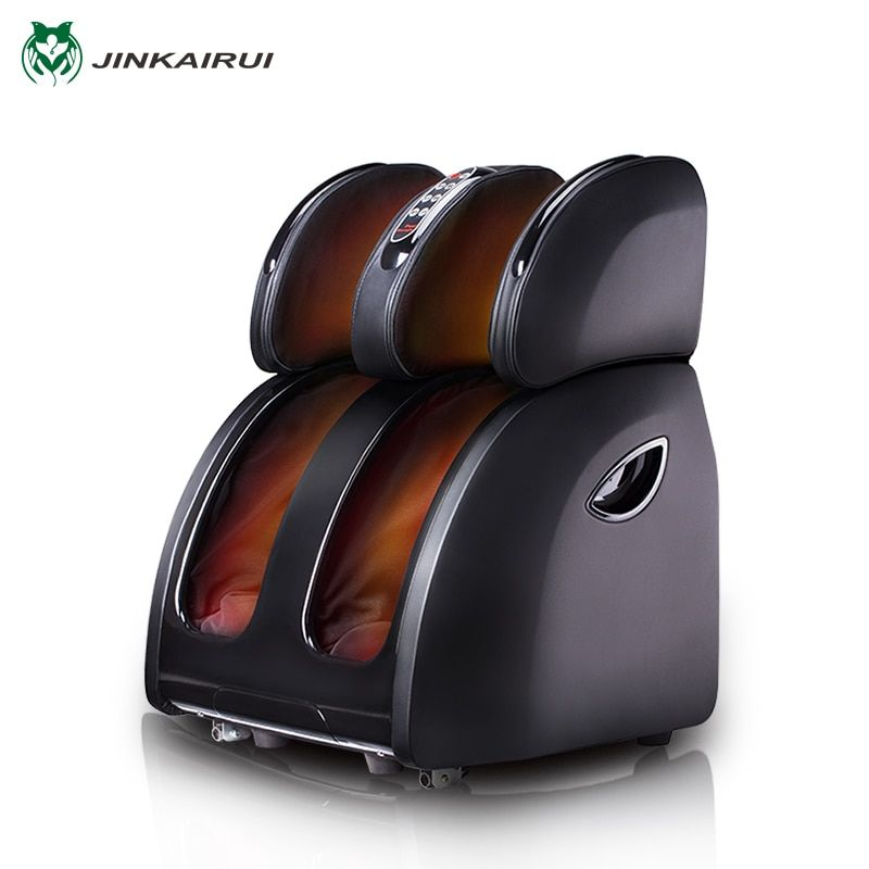 JinKaiRui Electric Vibrating Foot Massager Infrared Heating Knee Leg Calf <font><b>Thigh</b></font> Massage Device Air Pressure Massagem Pain Relief