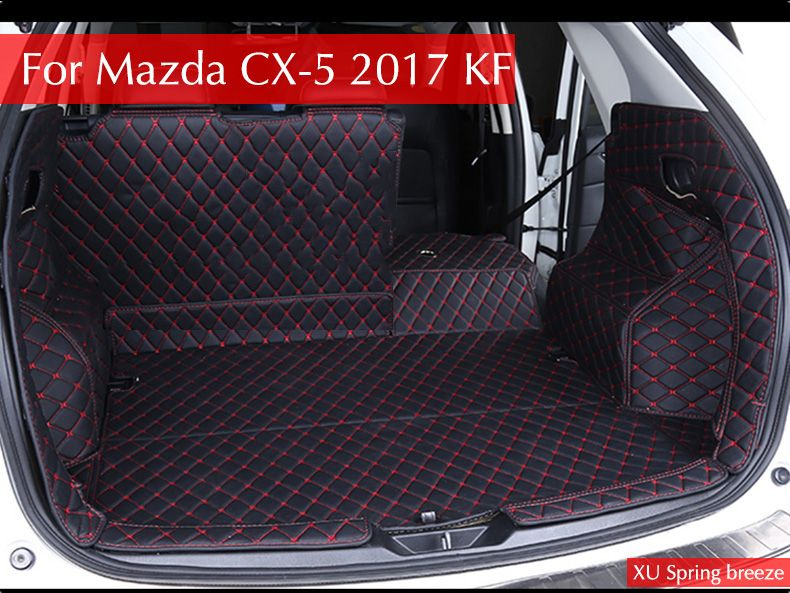 For Mazda CX-5 CX5 2017 2018 KF Car Rear Tail Box Trunk Mat Durable Boot Carpets Car styling