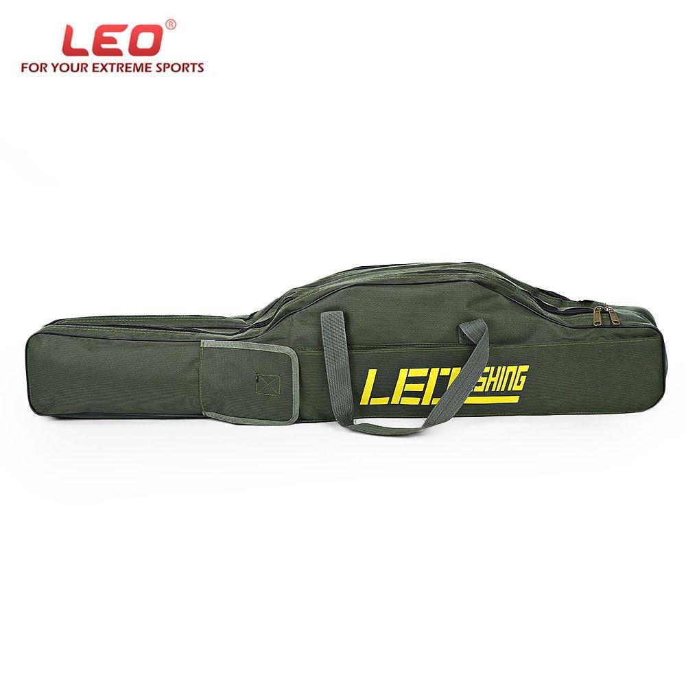 LEO 100cm/150cm Portable Folding Fishing Rod Carrier Fish Pole Tools Storage Bag Case Pro Gear Tackle