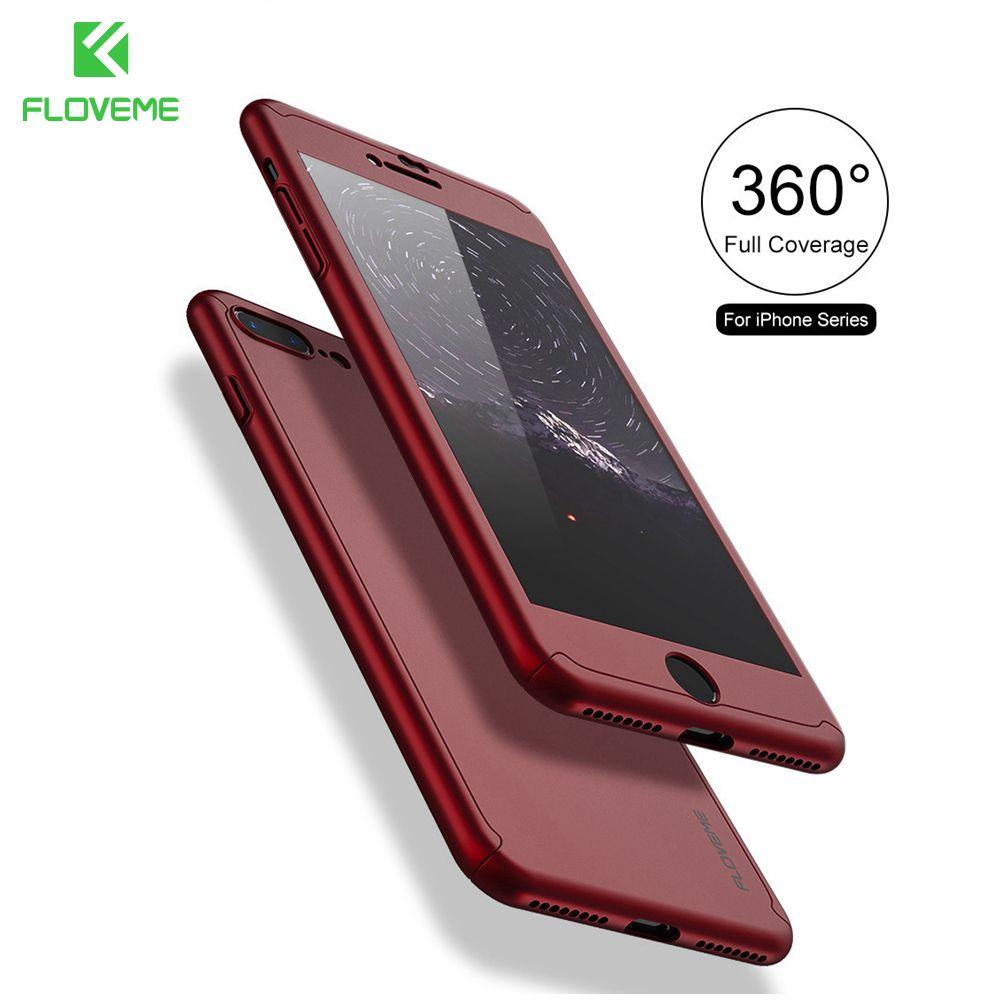 FLOVEME Für iPhone 7 7 Plus Fall Abdeckung 360 Grad Ganzkörper Gehärtetem glas Für iPhone6 Xiaomi 5 s 6 plus Redmi 3 s Hinweis 3 4 Fall