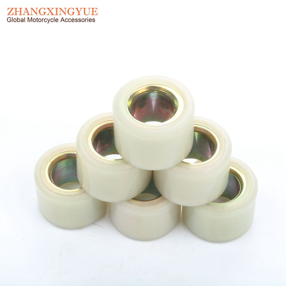 6PC Variator Weights Round 20x15mm 16.5 gram for HONDA 125 PCX ESP 2012-2014