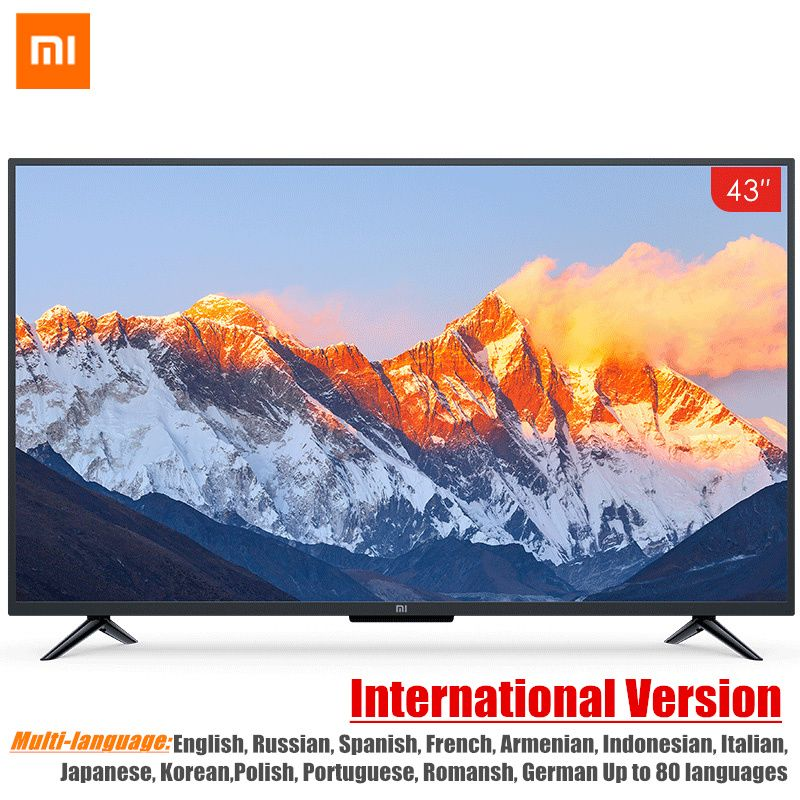 Global Version Xiaomi Smart TV 4A 43inches Mi LED Full HD Android TV 8.0 Ultimate PatchWall 1GB 8GB Ultra-bright LED Display