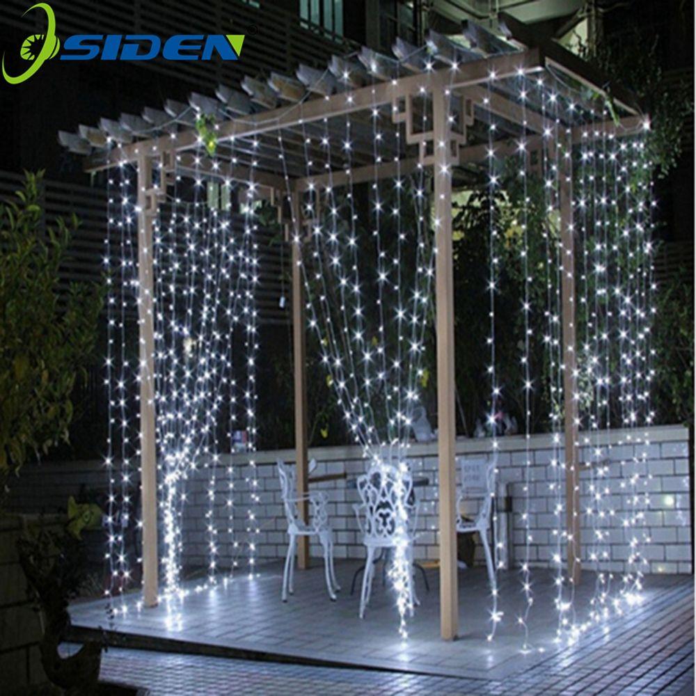 Chaîne lumières 3x3 4 * 1led glaçon led rideau fée fée lumière 300 led noël lumières pour mariage maison jardin fête décoration