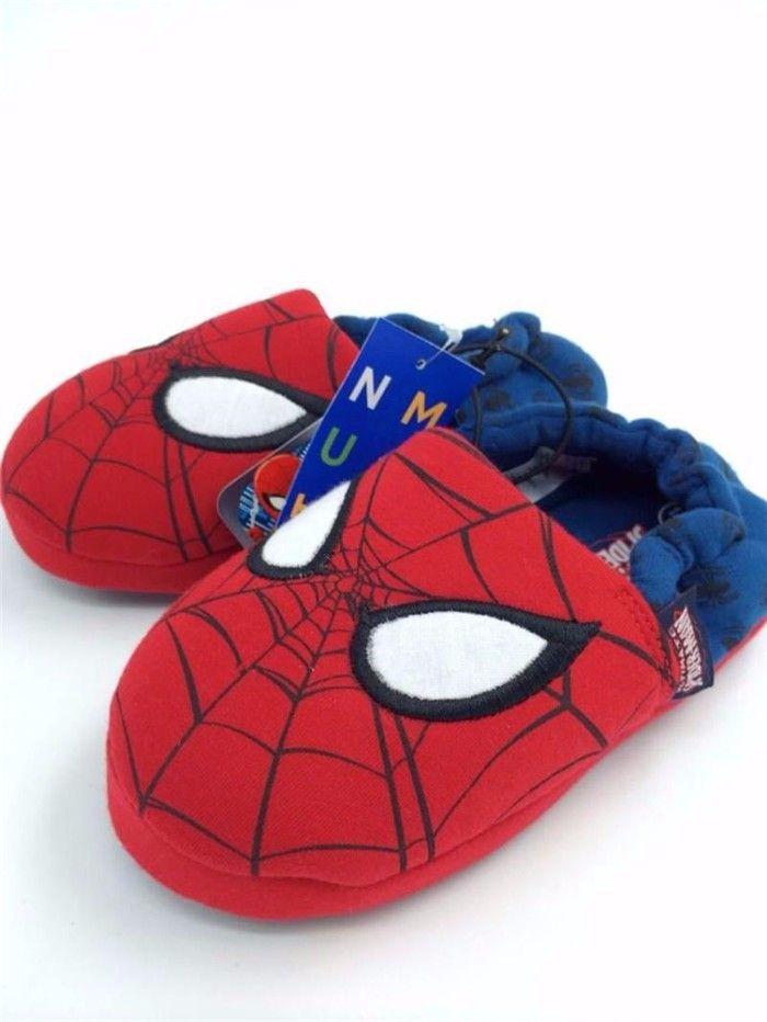 Xemonale/Новая мода осень ребенок звезда человек-паук обувь красный синий тапочки цвет детская модная повседневная обувь 26-37