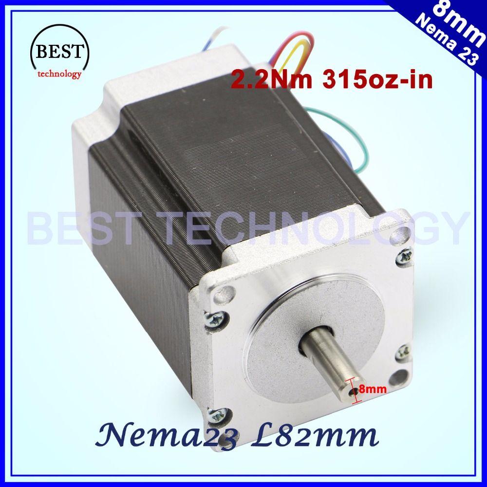 NEMA 23 CNC Stepper motor 57x82mm 3A 2.2N.m D=8mm 6.35mm 315Oz-in Nema23 CNC Router Engraving milling machine 3D printer