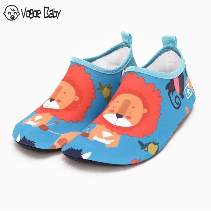 Pantufa Infantil Kids Slippers Quick Drying Swim Kids Water Shoes Footwear Barefoot Aqua Socks For Beach Pool Cartoon Children