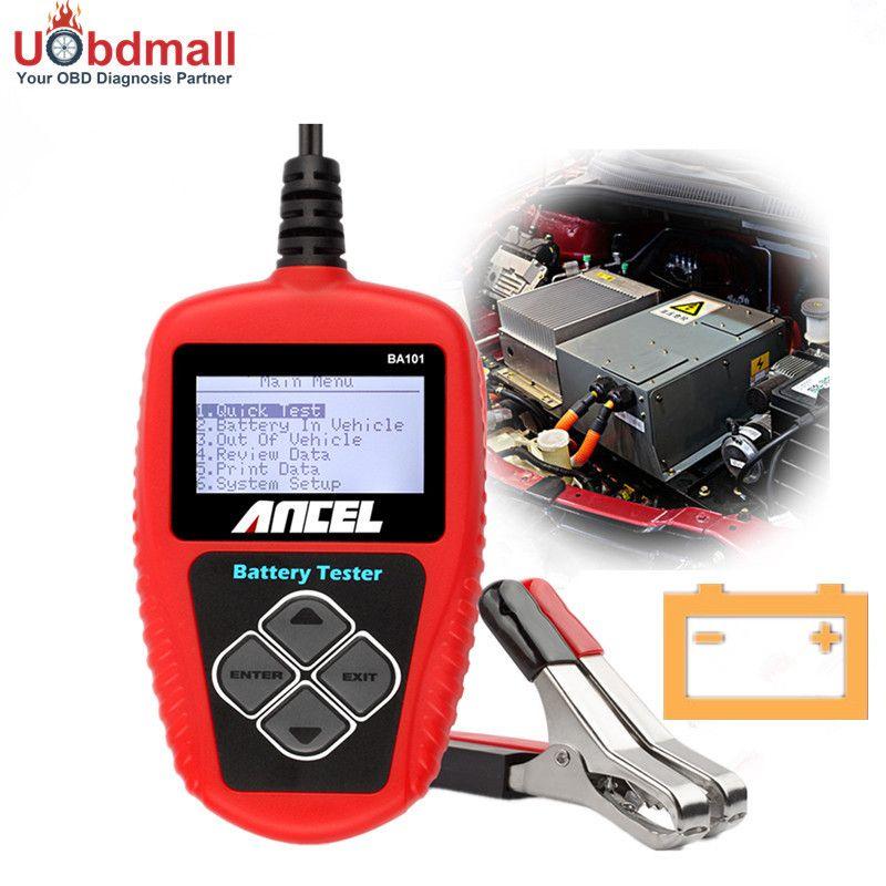 Original 2000CCA Car Battery Tester Ancel BA101 Battery Analyzer BA101 Detect BAD Cell Battery Diagnostic Tool Multi-language