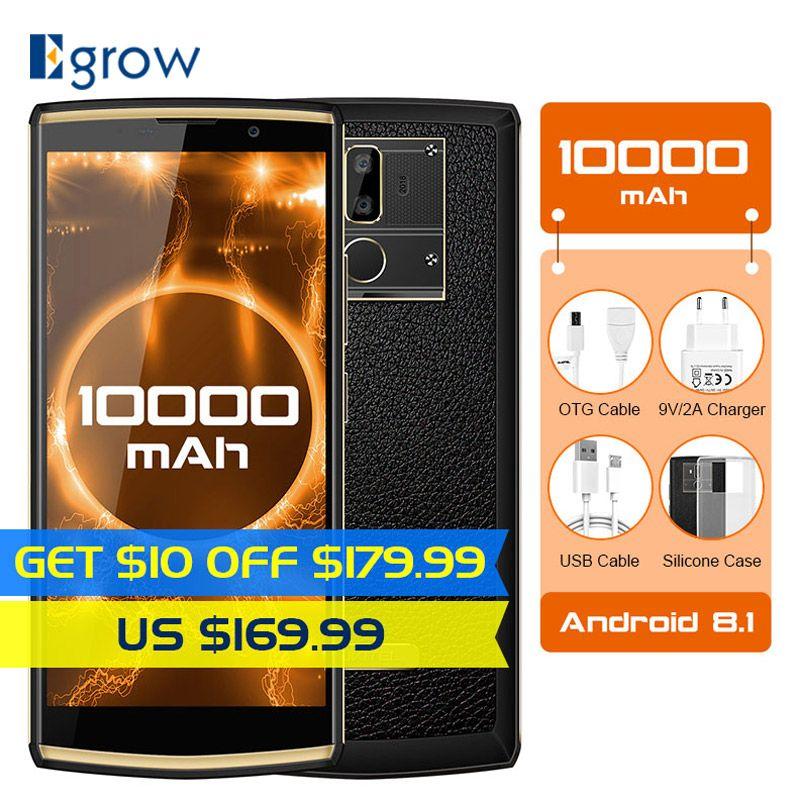 Oukitel K7 10000mAh 6.0 Inch 18:9 Display Android 8.1 MT6750T 4GB RAM 64GB ROM 13MP+5MP Quick Charge 4G Fingerprint Smartphone