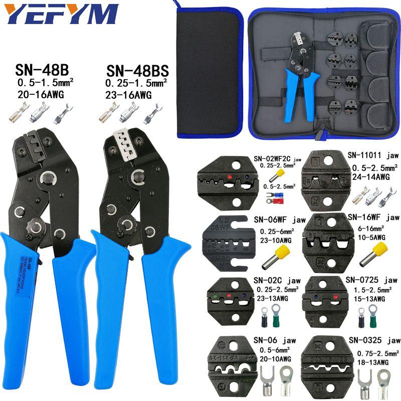 Jeu de pinces à sertir SN-48B SN-48BS 8 kit de mâchoires pour 2.8 4.8 6.3 VH2.54 3.96 2510/bornes de tube/isolation outils de serrage électriques