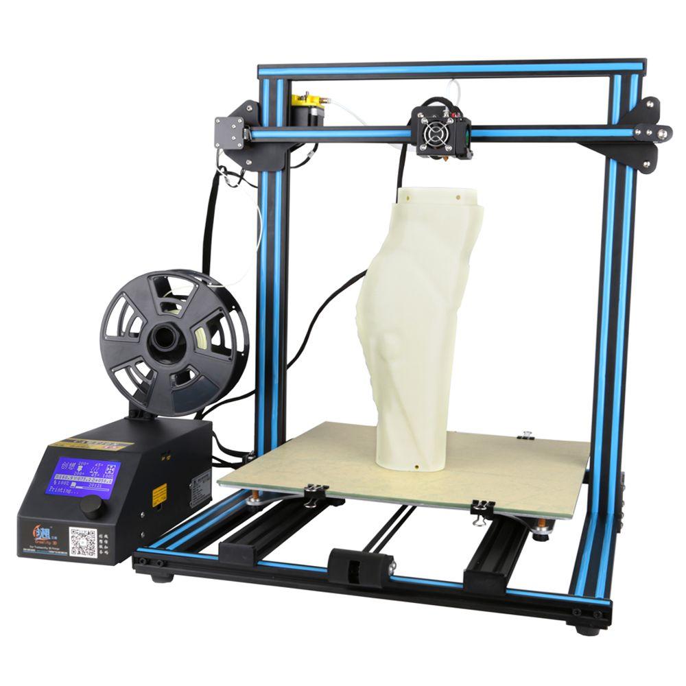 Versand von UNS Creality CR-10 S4 große druck größe DIY desktop 3D drucker 400*400*400mm druck größe mit beheizten bett