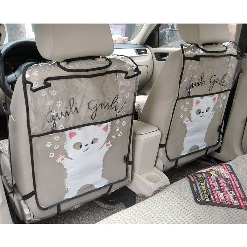 Firstplus Environmental Car Back Seat Protector Kicking Mat Case Cover For iPAD 2/3/4/Air/Mini and Drink Catoon Styling
