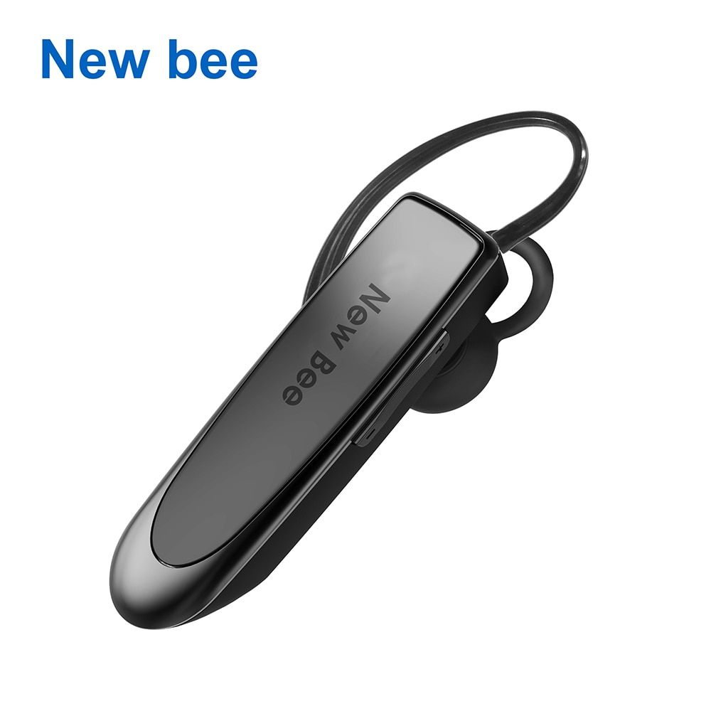 New Bee Hands-free <font><b>Wireless</b></font> Bluetooth Earphone Bluetooth Headset Headphones Earbud with Microphone Earphone Case for Phone PC