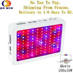 France Germany Warehouse drop shipping Qkwin 1000W LED Grow Light with double chip 10W Full Spectrum LED Grow Light