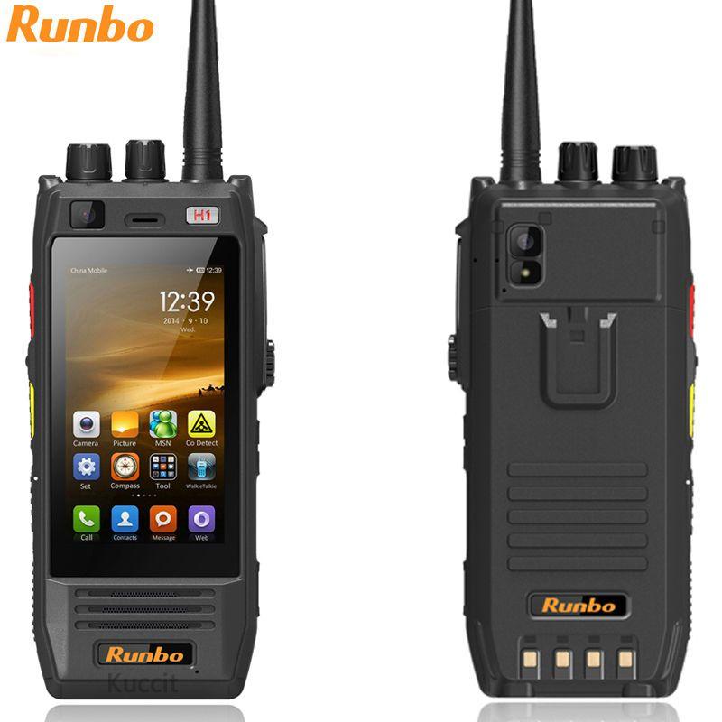 Original runbo H1 IP67 robusto impermeable teléfono Android DMR Radios VHF UHF PTT Walkie-talkies smarpthone 4G LTE 6000 Mah mtk6735 GPS
