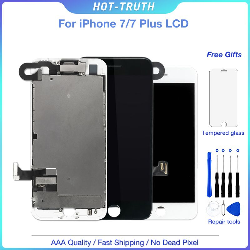 10Pcs/Lot LCD Screen For iPhone 7 7 Plus OEM Display Full Set Touch Panel Assembly with Front Camera Speaker Small Spare Parts