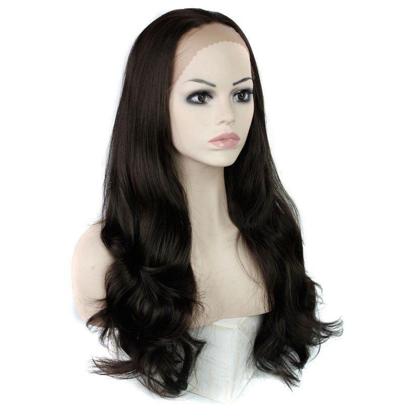 MISS WIG Synthetic Lace Front Wig Long Wavy Wigs Wigs for Black Women Heat Resistant