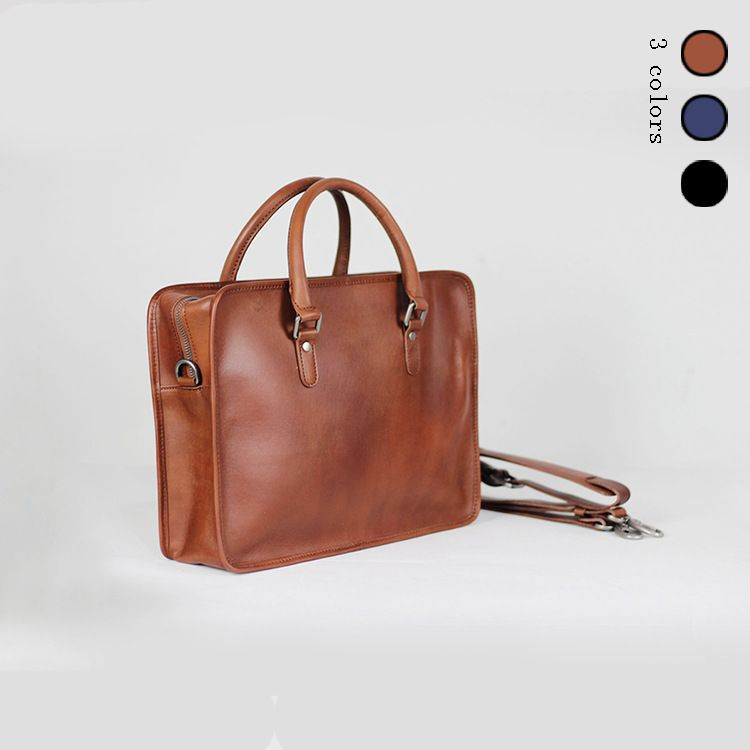 Men Genuine Leather Briefcase Handbags Leather 14