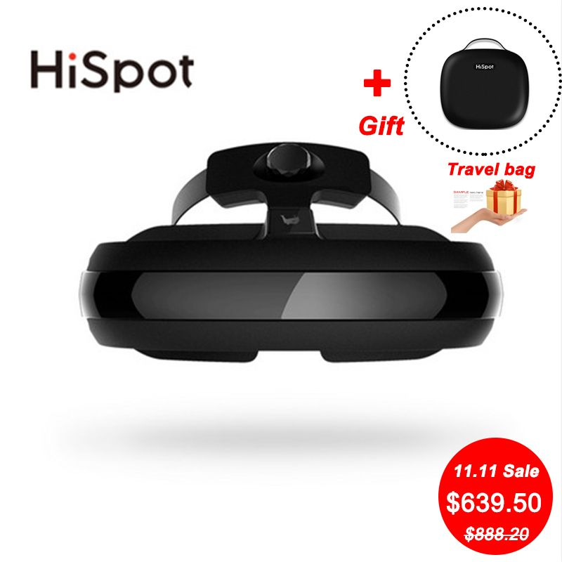 HiSpot H2 3D VR Glasses All in One 4K IMAX Video Glasses BOX VR Movies Film 800