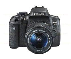 Canon EOS 750d/t6i cámara DSLR Cuerpo y ef-s 18-55mm is kit STM lente