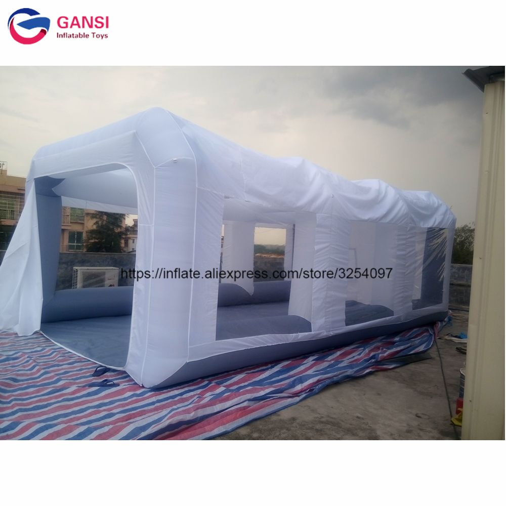 7*4*2.5m used spray booth inflatable car painting cabin ,free air blower inflatable car spray paint booth for sale