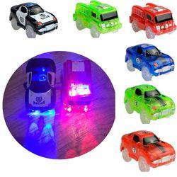 Glow track Spare parts DIY LED Light Up Car Toys Glowing Racing Track Set Electronics Glow Car Flashing Lights Cave bridge cross