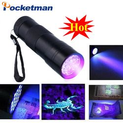 Profesional fluorescente agente de detección UV 395nm led linterna antorcha lámpara luz violeta púrpura For3AAA batería zk50