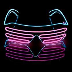 Novelty LED Glasses Light Up Shades Flashing Luminous Rave Night Christmas Activities Wedding Birthday Party Decoration 4 Colors