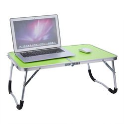 Camping Table Aluminium Meja Laptop Lipat Portable Pesta Piknik Meja PC Laptop Bed Meja Notebook Komputer Meja Tempat Tidur Tray