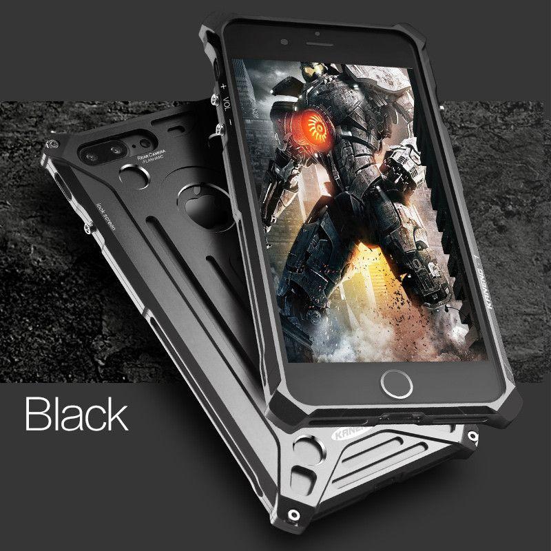 Pour iphone X 6 s 6 S 7 Plus alliage d'aluminium métal antichoc Anti-choc pare-chocs luxe téléphone housse étui pour iphone 8 6 s plus Shell