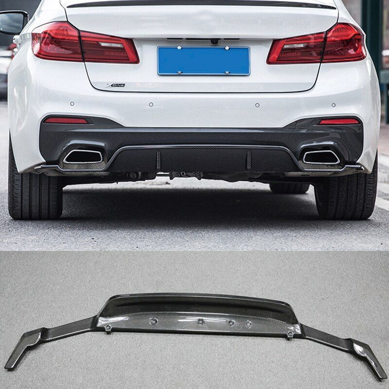 3-D Style Carbon fiber Rear Bumper Lip Diffuser Fit For BMW 5-Series G30 G38