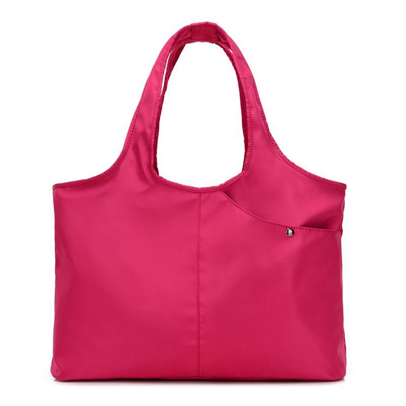 New Women Handbag Casual Large Shoulder Bag Fashion Nylon Big <font><b>Capacity</b></font> Tote Purple Bags Waterproof bolsas