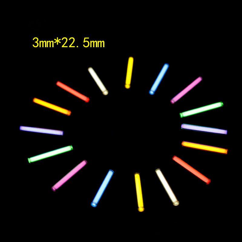 1 pc 3mm * 22.5mm Tritium Tube à gaz lumière automatique 25 ans Tritium porte-clés porte-clés Tube Fluorescent sauvetage lumières de secours