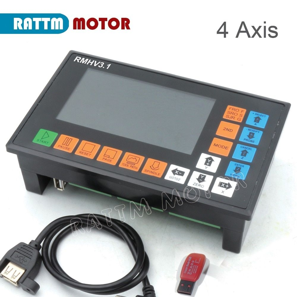 UA/ EU Delivery! 4 Axis PLC Controller 500KHz off-line operation for CNC Router Engraving Milling Machine servo, stepper motor