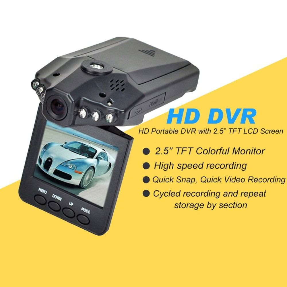 2.5 inch HD Car LED DVR Road Dash Video Camera Recorder Camcorder LCD Parking Recorder CMOS Sensor High Speed Recording