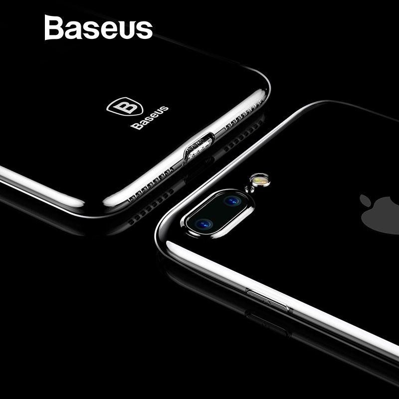 Baseus Ultra Dünne Fall Für iPhone 7 Mode Weiche Silikon Fall Für iPhone 7 7 Plus Abdeckung Schutzhülle Klare zurück Phone Cases