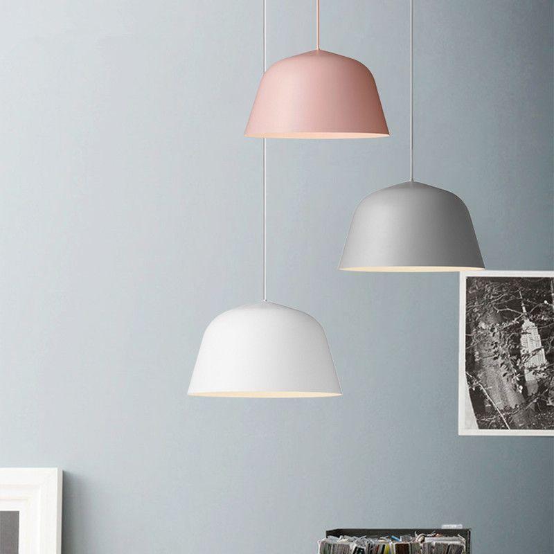 Modern Nordic led Pendant Light Denmark Colored Macaron Aluminum Kitchen Restaurant Light Ceiling Fixtures