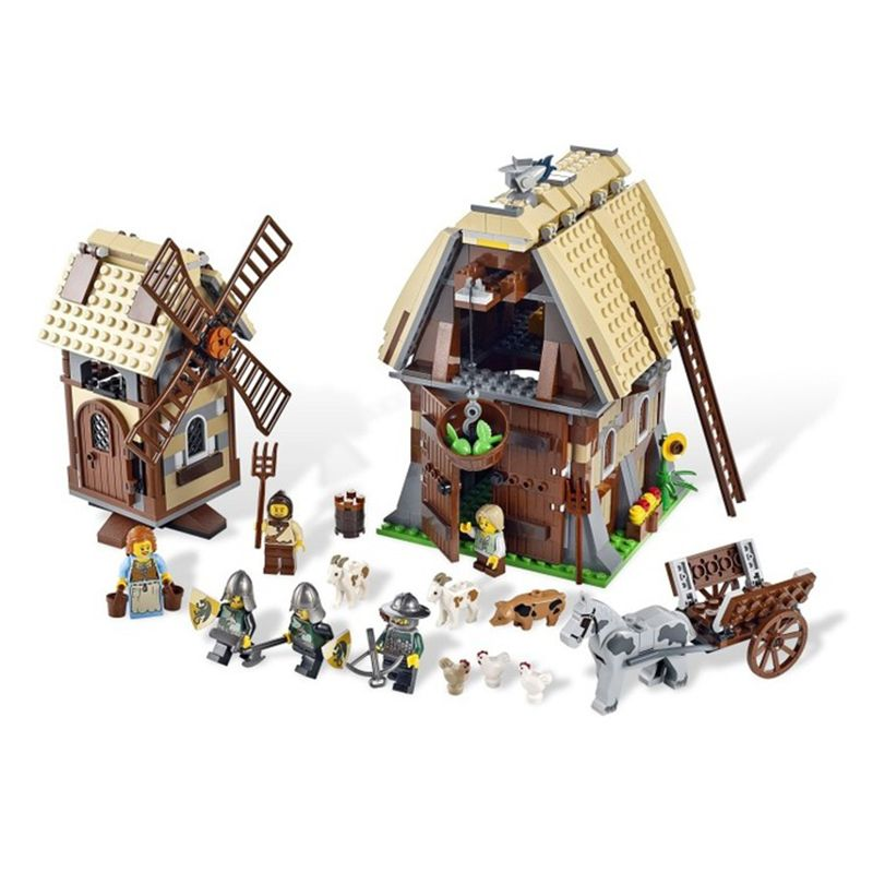 1010pcs Kingdoms Castle Mill Village Raid Knights 16049 Model Building Blocks Children Assemble Toys Bricks Compatible legoed