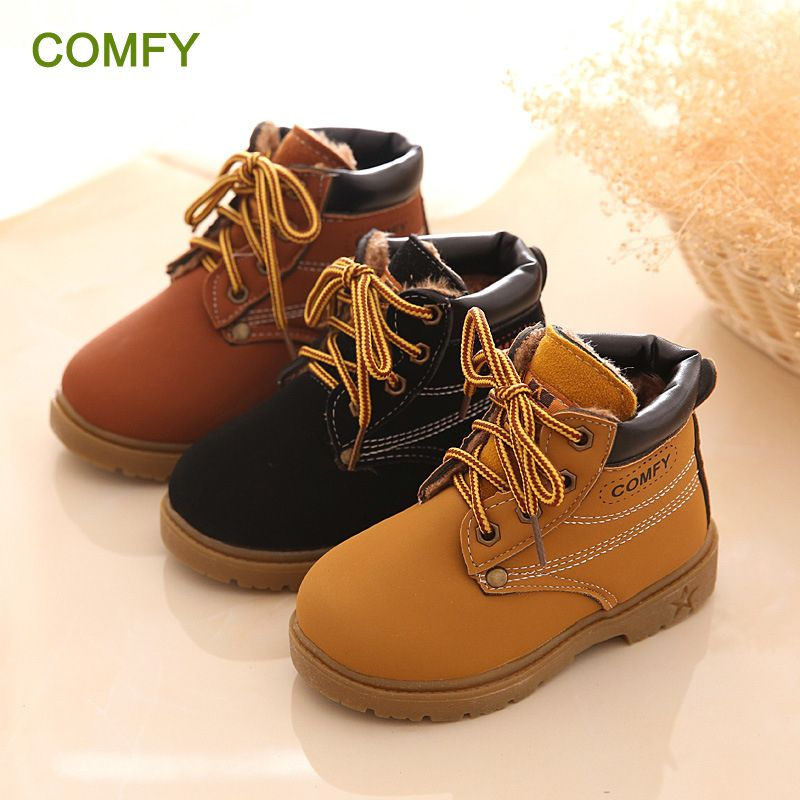 New Fashion Winter Baby Boots Boys And Girls Calzado Botas Ninas 2015 Infant Girl Winter Leather Boots Baby Warm <font><b>Snow</b></font> Boots