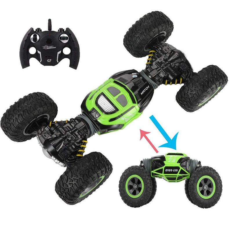 2.4Ghz 4WD Remote Control Electric Crawl Off Road Truck High Speed Racing Climbing RC Monster Vehicle RC Transform Stunt Car33cm