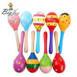 Hot 11 cm Colorful madera Marakas Pasir Palu Bayi Mainan Mini Kayu Anak Alat Musik Bayi Pengocok Anak Hadiah Mainan