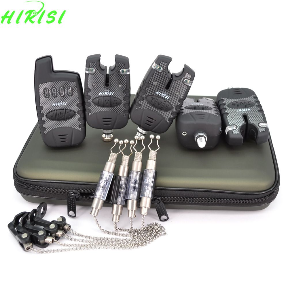 4+1 Carp fishing wireless bite alarm set with 4pcs fishing chain swinger indicator