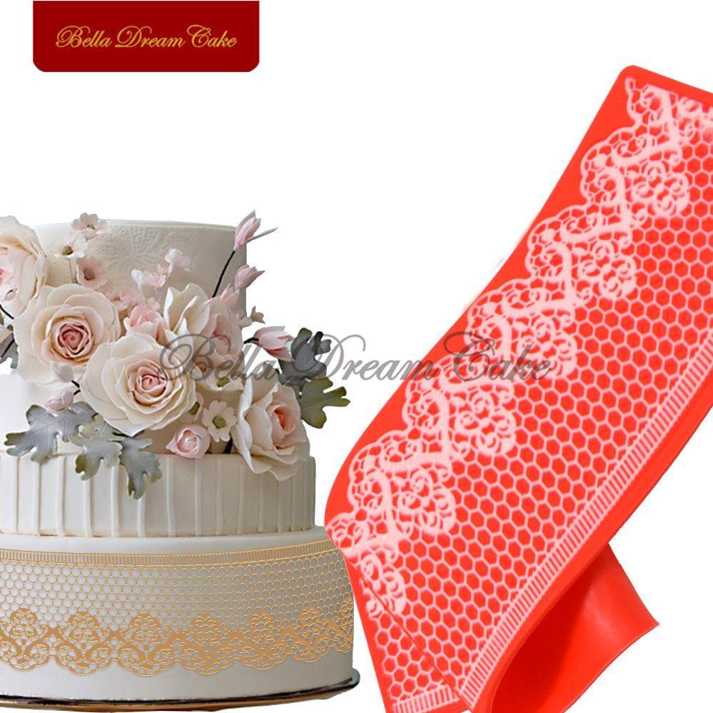 Fleur et nid d'abeille gâteau tapis cuisine Silicone gâteau dentelle tapis outils de cuisson gâteau moule moule Fondant décoration sucre pâte LFM-22