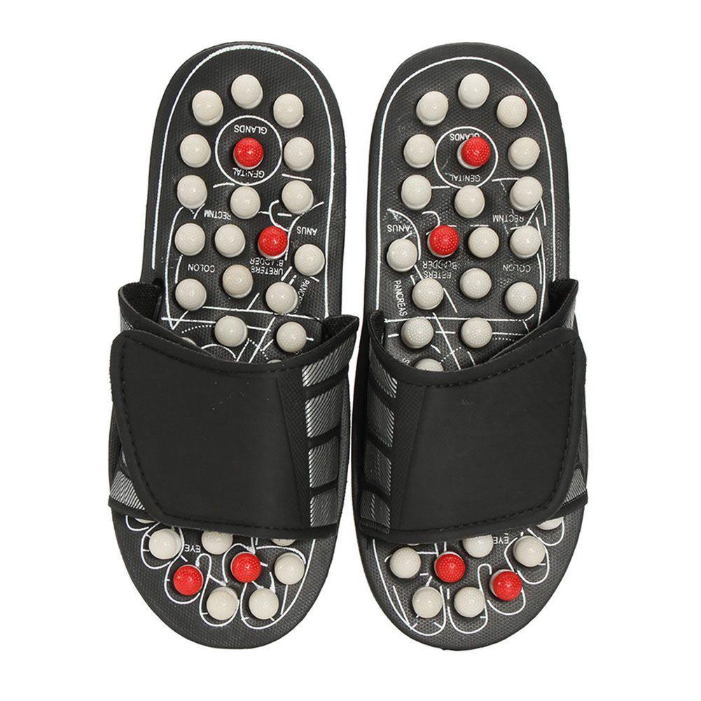 Offre spéciale 1 paire de sandales de réflexologie masseur de pieds pantoufles acupression Acupuncture chaussures livraison directe