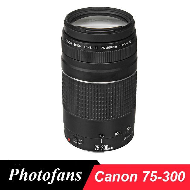 Canon objectif EF 75-300mm F/4-5.6 III Téléobjectif Lentilles pour Canon caméra 1300D 600D 700D 750D 760D 60D 70D 80D 7D 6D T6 T3i T5i T6