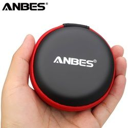 ANBES Mini Zippered Round Storage Hard Bag Headset boxes Earphone Storage Case  Box  for Earphone Bag TF SD  Cards Earphone Case