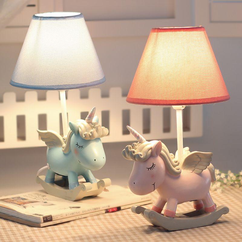 Licorne Décoration Nuit Lumière Réglable Lampe de Bureau Avec Tactile Gradateur Maison Décoration De Chevet Lampe de Bureau Valentine d'anniversaire partie