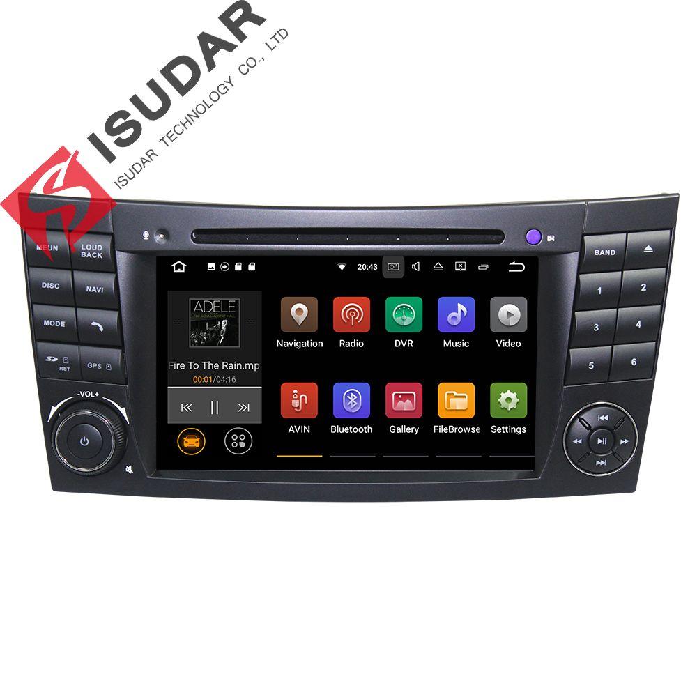 Android 7.1.1! Два din 7 дюймов dvd-плеер автомобиля для Mercedes Benz/E-Class/W211/E200/ e220/E300/E350 4 ядра Wi-Fi 3G USB GPS Радио