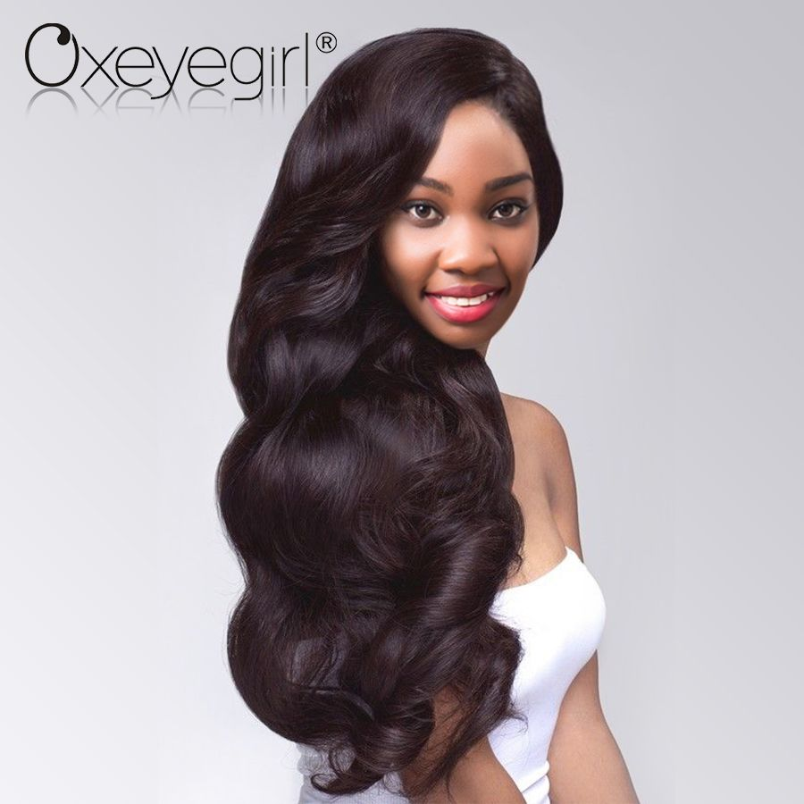 Oxeye girl Brazilian Hair Weave Bundles 10-28 Inch Natural Color Body Wave Bundles 100% Remy Human Hair Bundles Can Be Permed